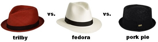 Trilby vs Fedora vs Pork Pie Hat