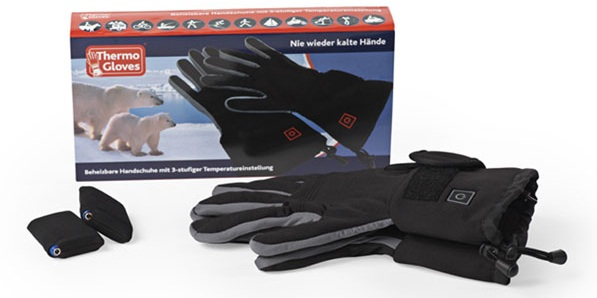 rechargeable battery powered heated gloves