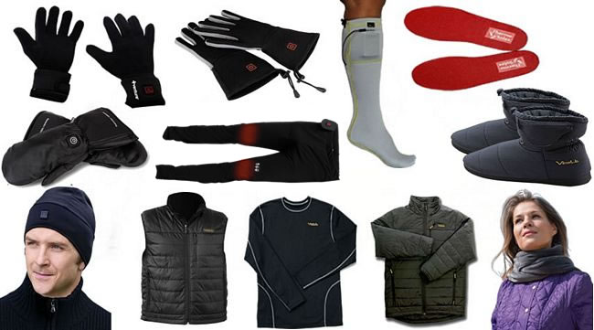 Electrically Heated Clothing – Gloves, Slippers, Insoles, Vest