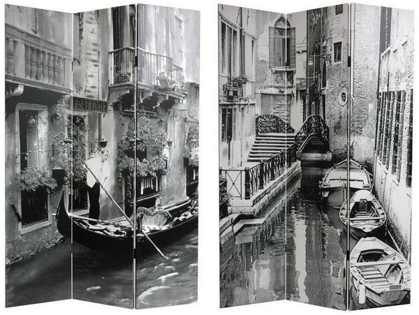 Canvas-Venice-Canal-Double-sided-Room-Divider