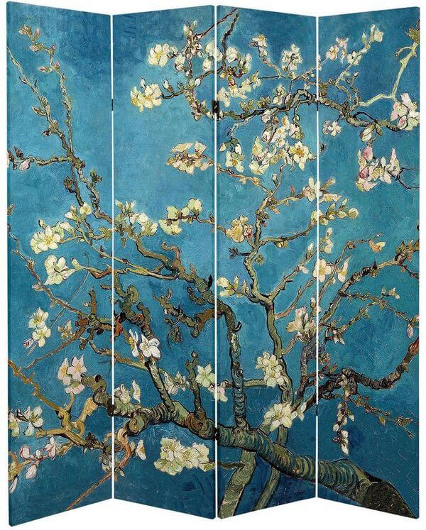 Double-sided-Works-of-Van-Gogh-Almond-Blossoms-Wheat-Field-Canvas-Room-Divider