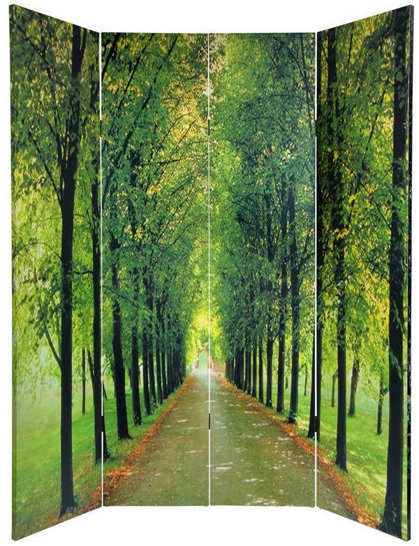 Handmade-Canvas-Double-sided-Path-of-Life-Room-Divider